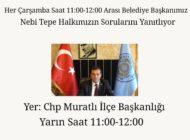 Başkan Nebi Tepe'den Halk Günü