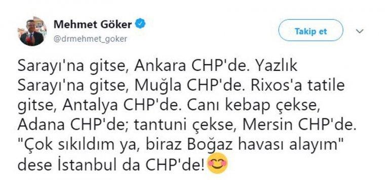 CHP'li Göker'in bu paylaşımı sosyal medyayı salladı